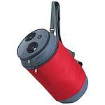 Chladící taška s popruhem na rameno a s repráčky, červená