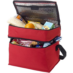 ALGORE chladící taška dvoupatrová, červená