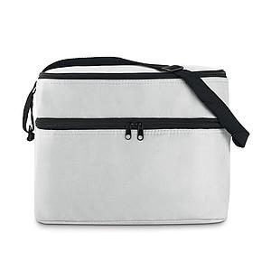 FLORENT Chladící taška s dvěma oddíly, bílá