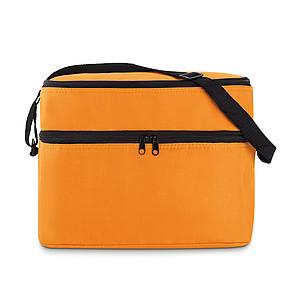 FLORENT Chladící taška s dvěma oddíly, oranžová