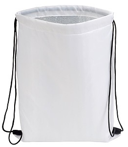 Chladící stahovací batůžek na záda, bílý