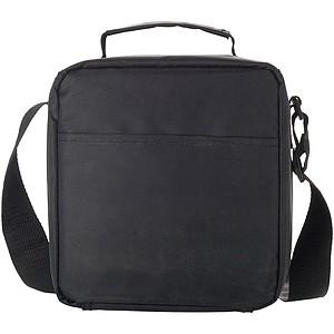 Chladící taška na jídlo včetně dvou lunch boxů, černá