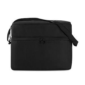 Chladící taška, dvě přihrádky s hliníkovou folií, černá