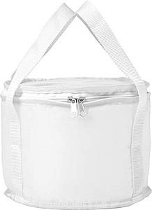 Oválná chladící taška s bílými uchy, bílá