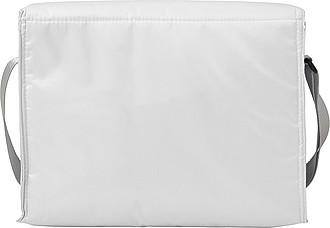 Chladící taška s přední kapsou, bílá
