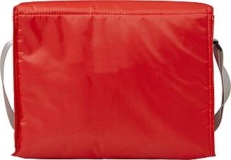 Chladící taška s přední kapsou, červená