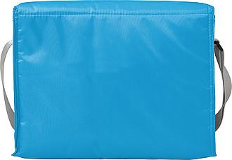 Chladící taška s přední kapsou, modrá