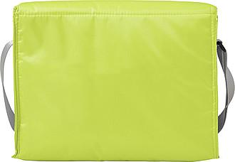 Chladící taška s přední kapsou, zelená
