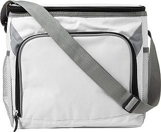 Chladící taška s šedým popruhem, bílá