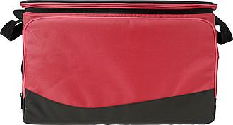 Chladící taška s plastovým víkem, červená