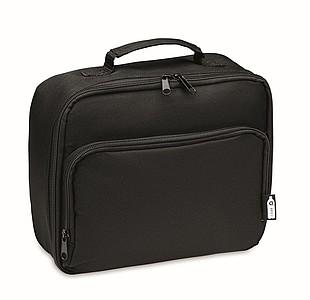 Chladící taška na oběd z RPET, černá