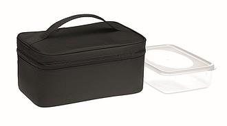 Chladící taška s boxem z RPET, černá