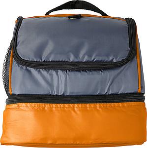 Chladící taška z polyesteru se dvěma oddíly, oranžová