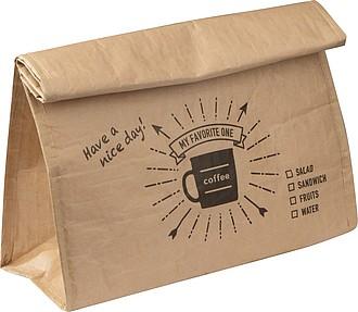 Chladící sáček na svačinu v designu papírového sáčku