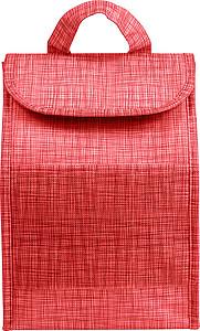 Obědová chladící taška z netkané textilie, červená