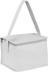 Chladící taška na 6 malých plechovek, netkaná textilie, bílá