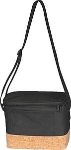 Chladící taška s korkovou základnou a ramínkem,černá