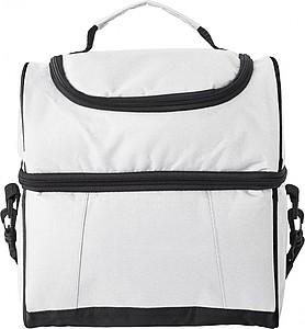 Chladící taška, 2 chladící oddíly, bílá