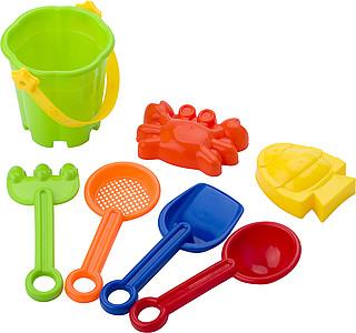 SUNFUN Sada formiček a hraček na písek, nadruženo ze 4 barev