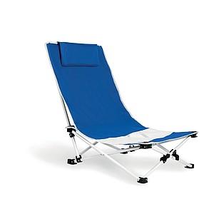 Plážová židle, ocelová konstrukce, modrá