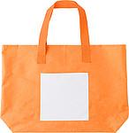 Polyesterová plážová taška s bílou přední kapsou, oranžová