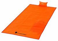 Plážová matrace s nafukovacím polštářkem, oranžová