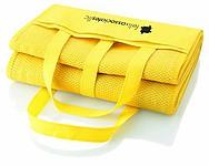 Plážová matrace s nafukovacím polštářkem, žlutá