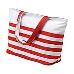 BORSA Plážová taška v námořnickém stylu, bílá, červená