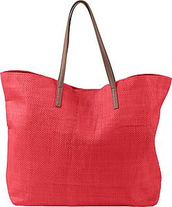 Polyesterová plážová taška, červená