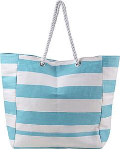 FRIPONA Plážová taška s námořnickými pruhy, světele modrá