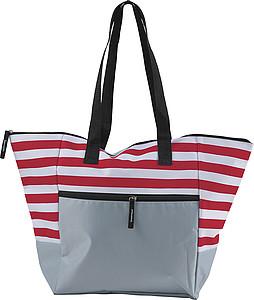 BOLSA Plážová taška na zip, červená