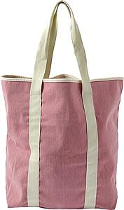 Plážová taška se světlými uchy, růžová