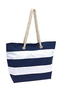SEANA Plážová taška, pruhovaná bílo modrá