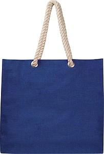 Plážová taška z juty, modrá