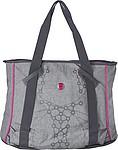Plážová taška šedá s růžovými detaily