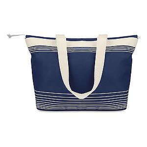 Plážová taška s tenkými proužky, modrá