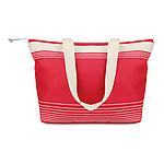 Plážová taška s tenkými proužky, červená