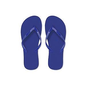 Plážové žabky s polyethylenovou podrážkou s PVC pásky, královská modrá, velikost L