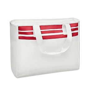 Taška s přední kapsou na suchý zip, červená