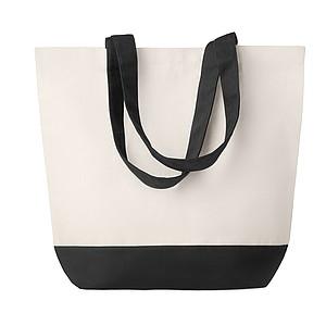 Plátěná plážová taška, černá