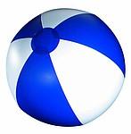 Nafukovací míč, průměr 25 cm, bílý/modrý