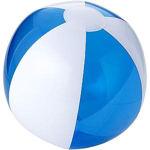 Nafukovací míč, průměr 25 cm, bílý/transparentní modrý