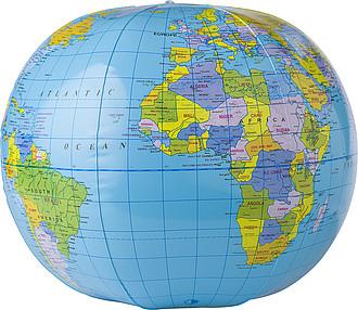 Nafukovací míč s potiskem mapy zeměkoule