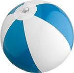 Dvoubarevný plážový nafukovací míč, bílo modrý