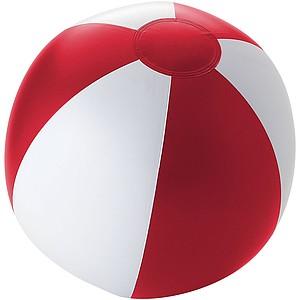 Nafukovací míč, průměr 25 cm, bílý/červený