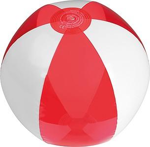 Nafukovací plážový míč, bílo červený