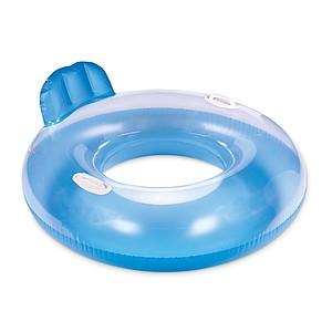Plavecký nafukovací kruh s držadly, modrý