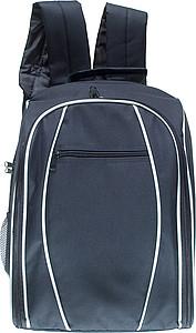 Pikniková taška s plas. nádobím, pro 4 osoby, 25 kusů,modrá