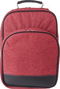 Piknikový chladící batoh, červený