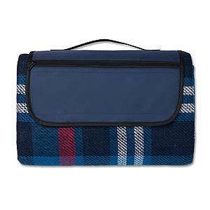 Skládací akrylová pikniková deka, modrá